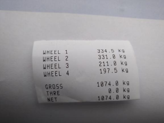 Auton painot ennen purkamista